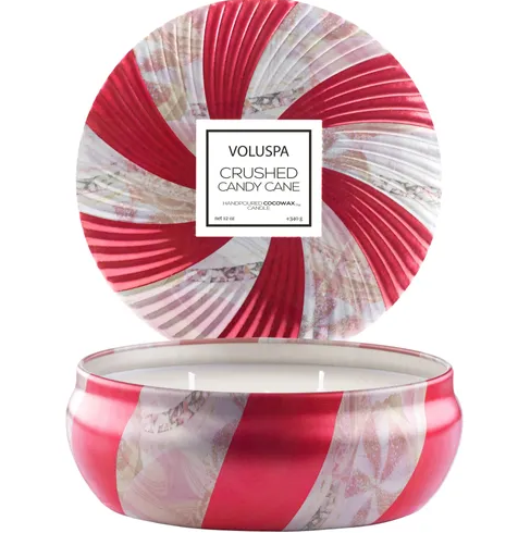 VELA LATA 3 PAVIOS CRUSHED CANDY CANE VOLUSPA