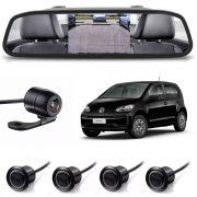 Kit sensor de estacionamento camera de ré retrovisor VW UP! Preto