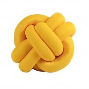 Almofada de Nó Decorativa Amarelo Avulsa
