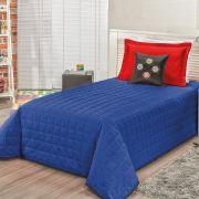 Cobre Leito Game Azul/Vermelho Solteiro 05 peças
