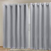 Cortina Blackout em Tecido Class Branco Gelo Corta Luz 4,00m x 2,70m