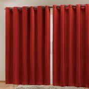 Cortina Blackout em Tecido Class Vermelho Corta Luz 4,00m x 2,70m