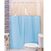 Cortina p/ Box de Banheiro Azul 1,40m X 1,98m