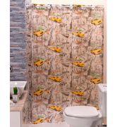 Cortina p/ Box de Banheiro New York Estampada 1,40m X 1,98m