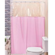 Cortina p/ Box de Banheiro Rosa 1,40m X 1,98m