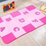 Passadeira Infantil Premium Alfabeto Rosa 1,20m x 74cm