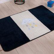 Passadeira Infantil Premium Chuva de Benção Azul Marinho 1,20m x 74cm