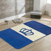 Passadeira Infantil Premium Coroa Azul Royal 1,20m x 74cm