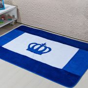 Passadeira Infantil Premium Coroa Real Azul Royal 1,20m x 74cm
