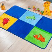 Passadeira Infantil Premium Dinossauro Azul Royal 1,20m x 74cm