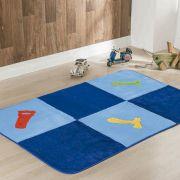Passadeira Infantil Premium Ferramentas Azul Turquesa 1,20m x 74cm