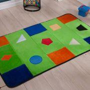 Passadeira Infantil Premium Geométrica Verde Pistache 1,20m x 74cm
