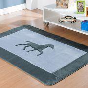 Passadeira Infantil Premium Horse Cinza 1,20m x 74cm
