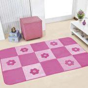 Passadeira Infantil Premium Margaridas Pink 1,20m x 74cm