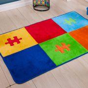 Passadeira Infantil Premium Quebra-Cabeça Colorida 1,20m x 74cm
