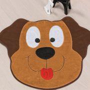 Tapete Big Infantil Premium Formato Cachorro Feliz Caramelo 1,18m x 0,78m