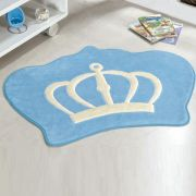 Tapete Big Infantil Premium Formato Coroa Azul Turquesa 1,16m x 0,90m