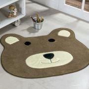 Tapete Big Infantil Premium Formato Urso Castor 1,16m x 1,00m