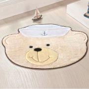 Tapete Big Infantil Premium Formato Urso Marinheiro Palha 1,10m x 0,88m