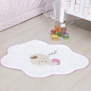 Tapete Infantil Premium Baby Formato Bebê Nuvem Rosa 76cm x 62cm
