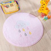Tapete Infantil Premium Baby Formato Chuva de Benção Rosa 65ø cm