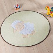 Tapete Infantil Premium Baby Formato Ovelhinha Castor 78cm x 68cm