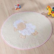 Tapete Infantil Premium Baby Formato Ovelhinha Rosa 78cm x 68cm