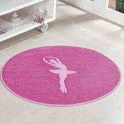 Tapete Infantil Premium Formato Bailarina Pink 78cm x 68cm