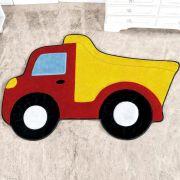 Tapete Infantil Premium Formato Caminhão Caçamba Vermelho 87cm x 58cm