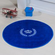 Tapete Infantil Premium Formato Coroa Ramo Azul Royal 65øcm