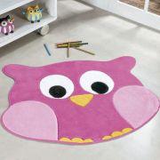 Tapete Infantil Premium Formato Coruja Rosa 78cm x 64cm