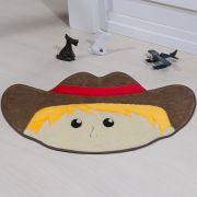 Tapete Infantil Premium Formato Cowboy Castor 78cm x 55cm