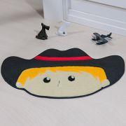 Tapete Infantil Premium Formato Cowboy Preto 78cm x 55cm