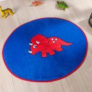 Tapete Infantil Premium Formato Dino Baby Azul Royal 78cm x 68cm