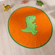 Tapete Infantil Premium Formato Dino Baby Laranja 78cm x 68cm