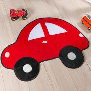 Tapete Infantil Premium Formato Fusca Vermelho 95cm x 73cm