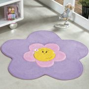 Tapete Infantil Premium Formato Menina Flor Lilás 70cm x 70cm