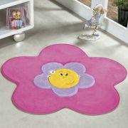 Tapete Infantil Premium Formato Menina Flor Pink 70cm x 70cm