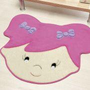 Tapete Infantil Premium Formato Menina Sara Pink 72cm x 60cm