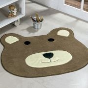 Tapete Infantil Premium Formato Urso Castor 74cm x 64cm