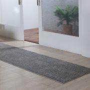 Tapete Passadeira Oasis Para Sala Cinza Liso 2,00m x 0,50m