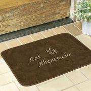 Tapete Retangular Premium Lar Abençoado Café 68cm x 48cm