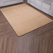 Tapete Retangular Premium p/ Sala Bege Liso 2,00m x 1,50m