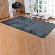 Tapete Retangular Premium p/ Sala Cinza Liso 2,00m x 1,50m
