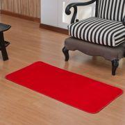 Tapete Retangular Premium p/ Sala Vermelho Liso 1,00m x 0,50m