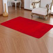 Tapete Retangular Premium p/ Sala Vermelho Liso 1,50m x 1,00m