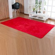 Tapete Retangular Premium p/ Sala Vermelho Liso 2,00m x 1,50m