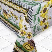 Toalha de Mesa PVC Térmica Girassol 1,40m x 1,50m - 4 Lugares