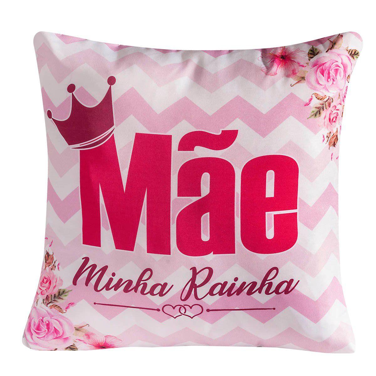 Almofada Avulsa Mãe Rainha Pink