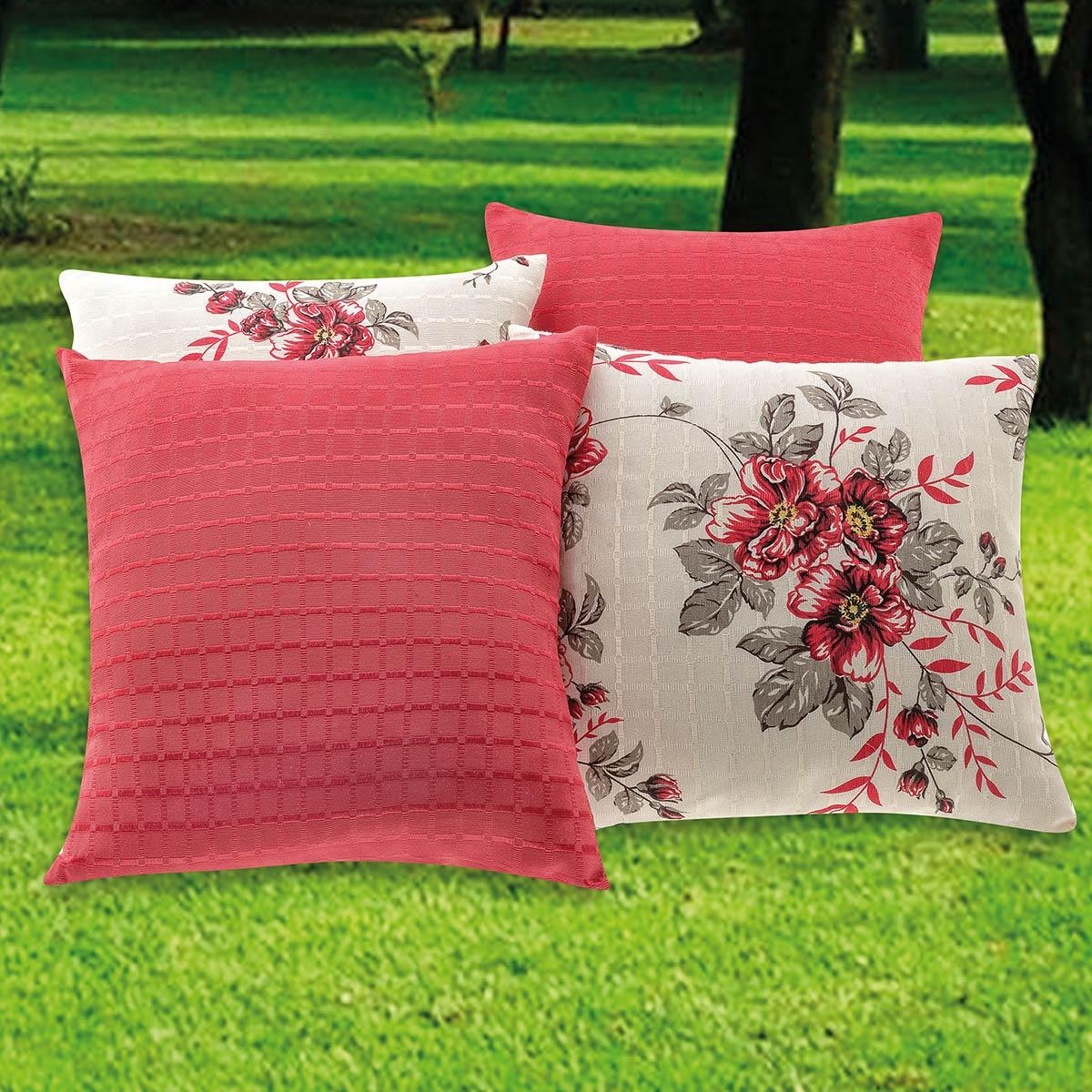 Almofadas Decorativas Vermelho 08 Peças c/ Refil